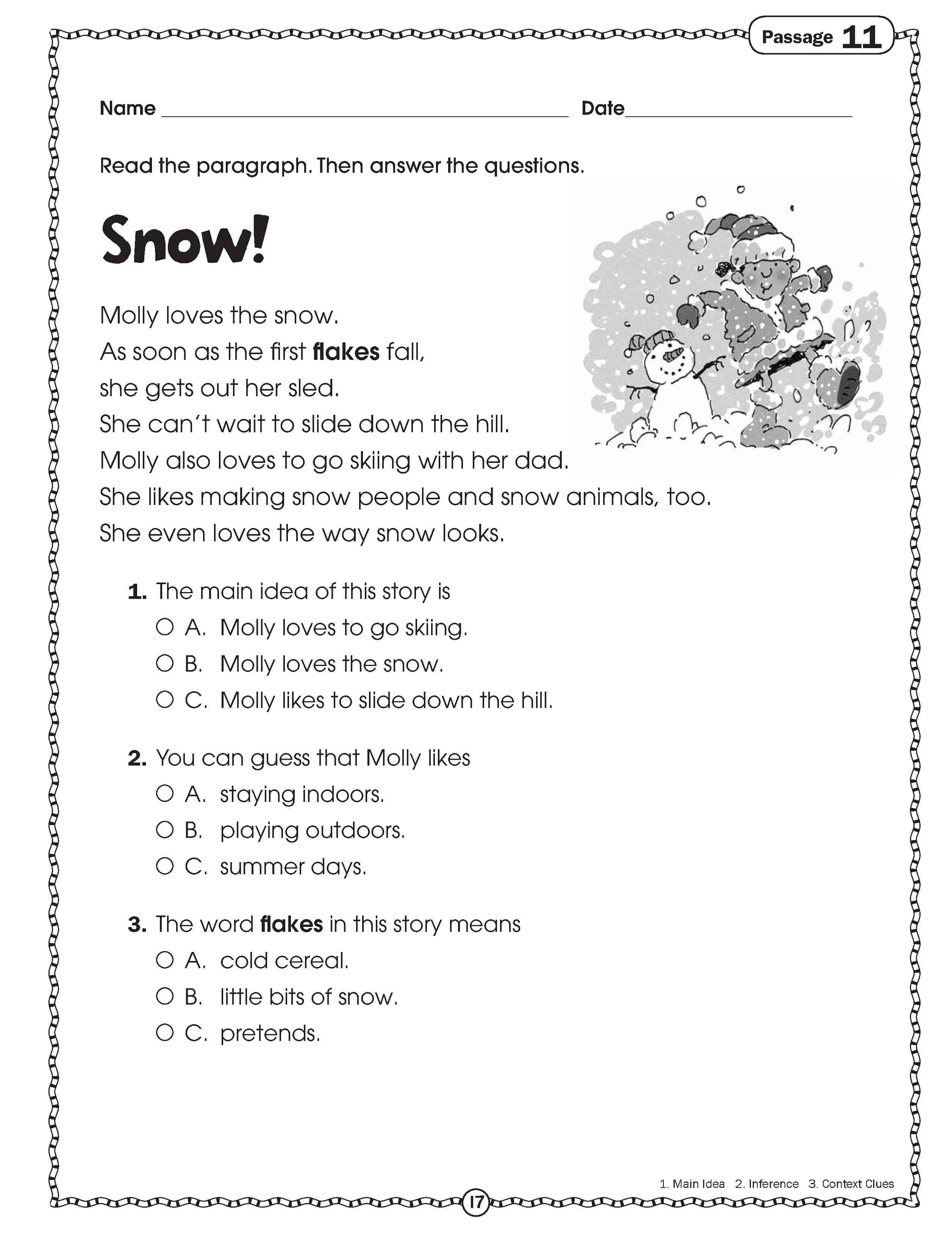 Free Printable Worksheets For Elementary Students All Themes