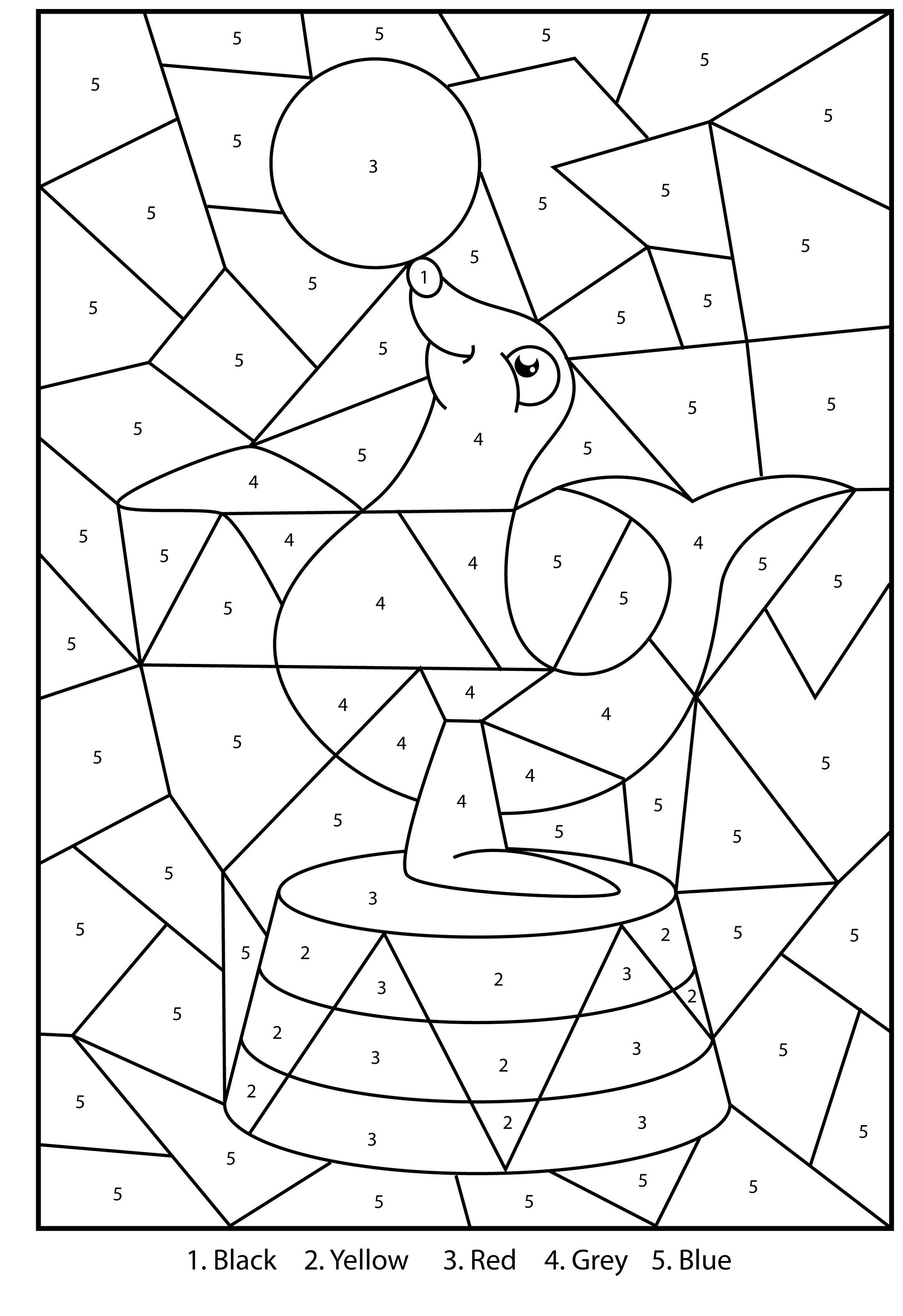 Printable Activities For 9 Year Olds Color By Number