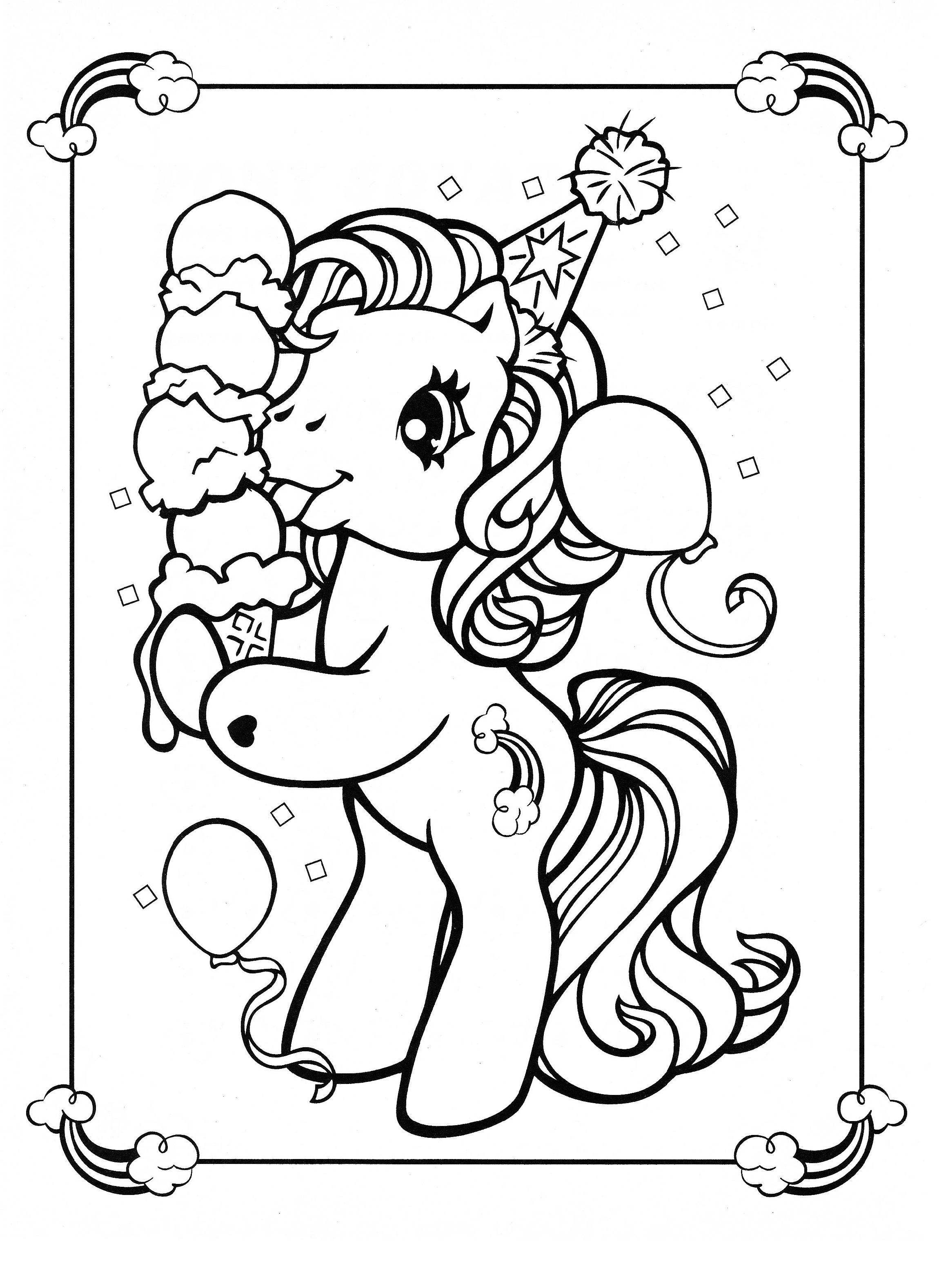 Printable Unicorn Coloring Pages Baby Usable