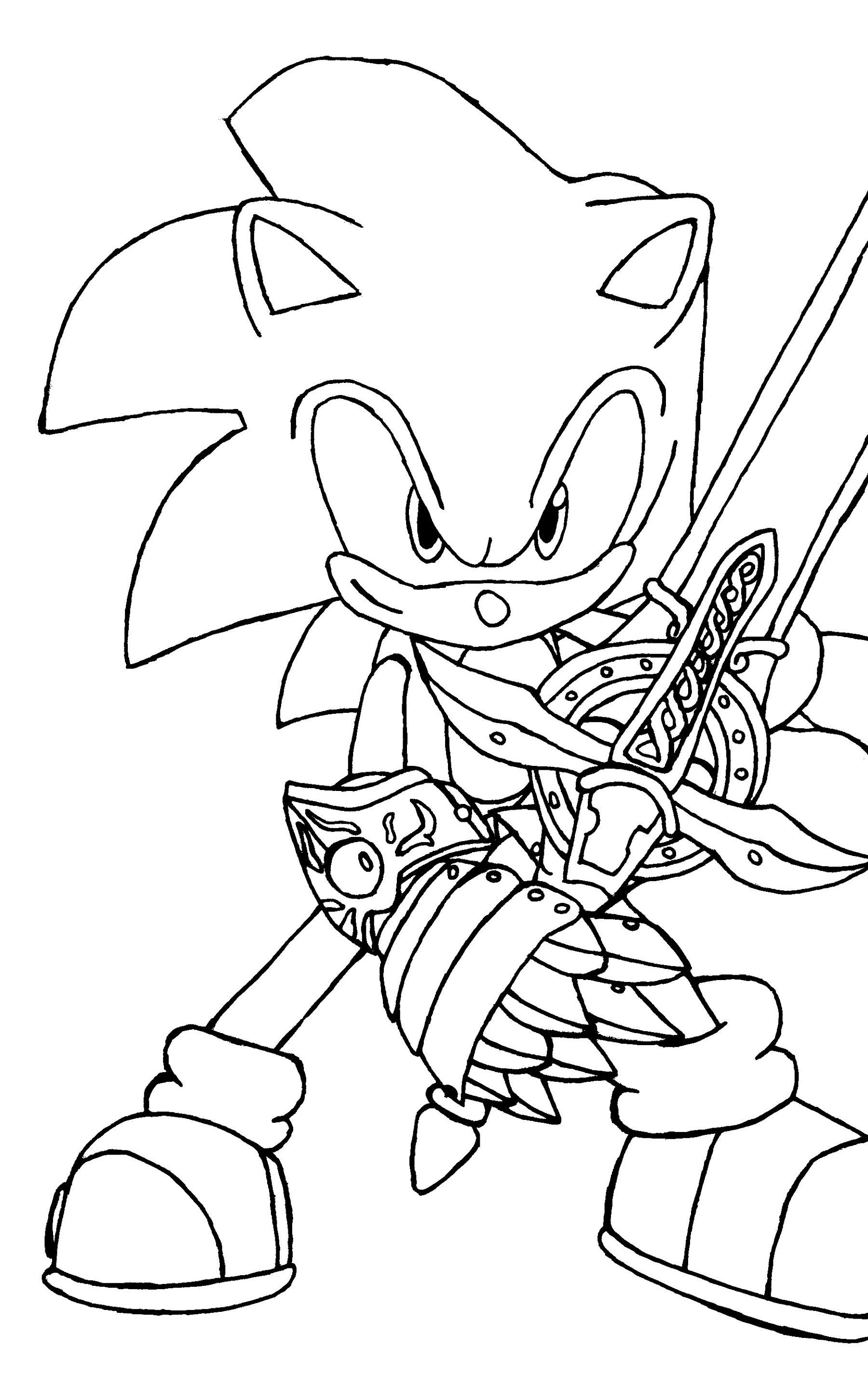 Sonic The Hedgehog Coloring Pages For Kids