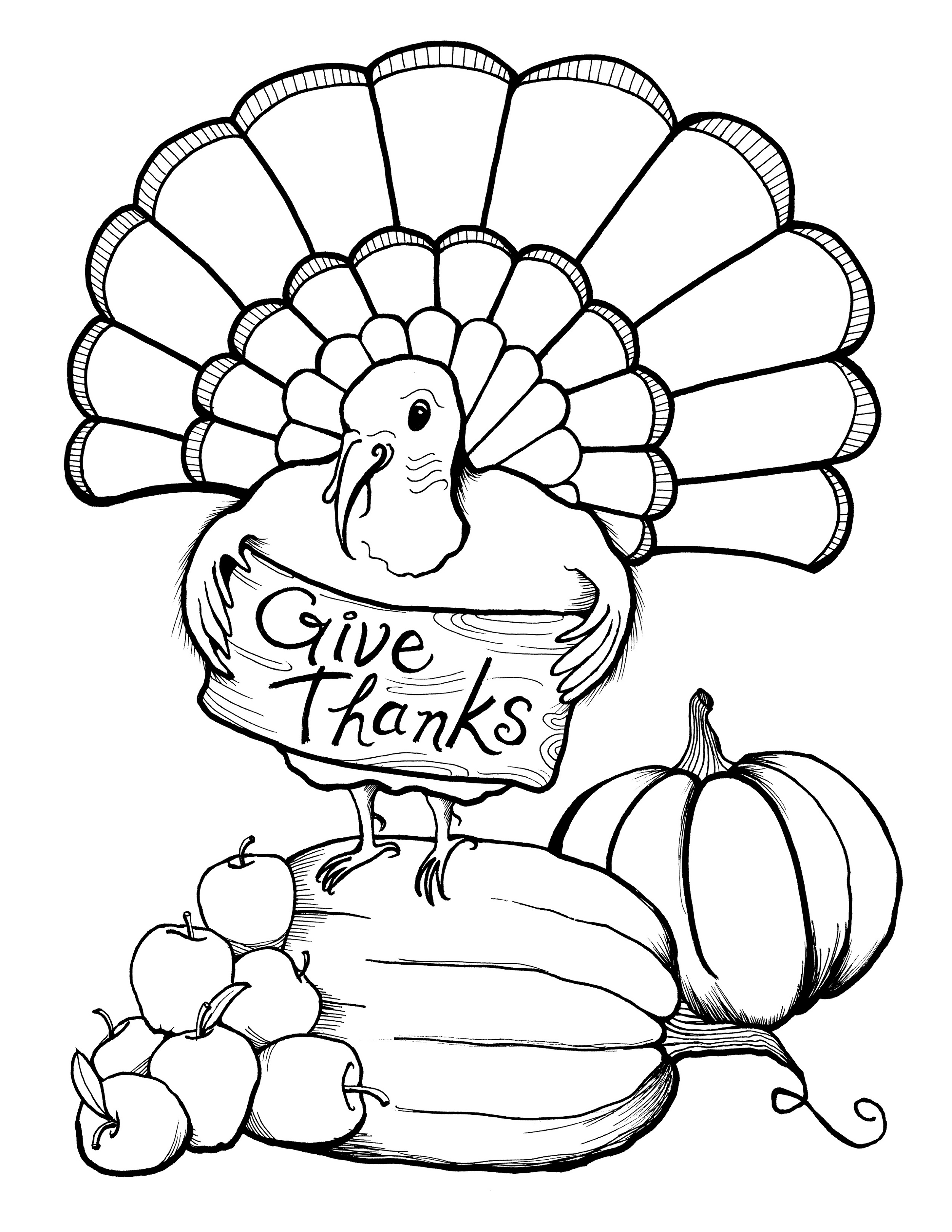 Thanksgiving Coloring Pages Free For All Themes