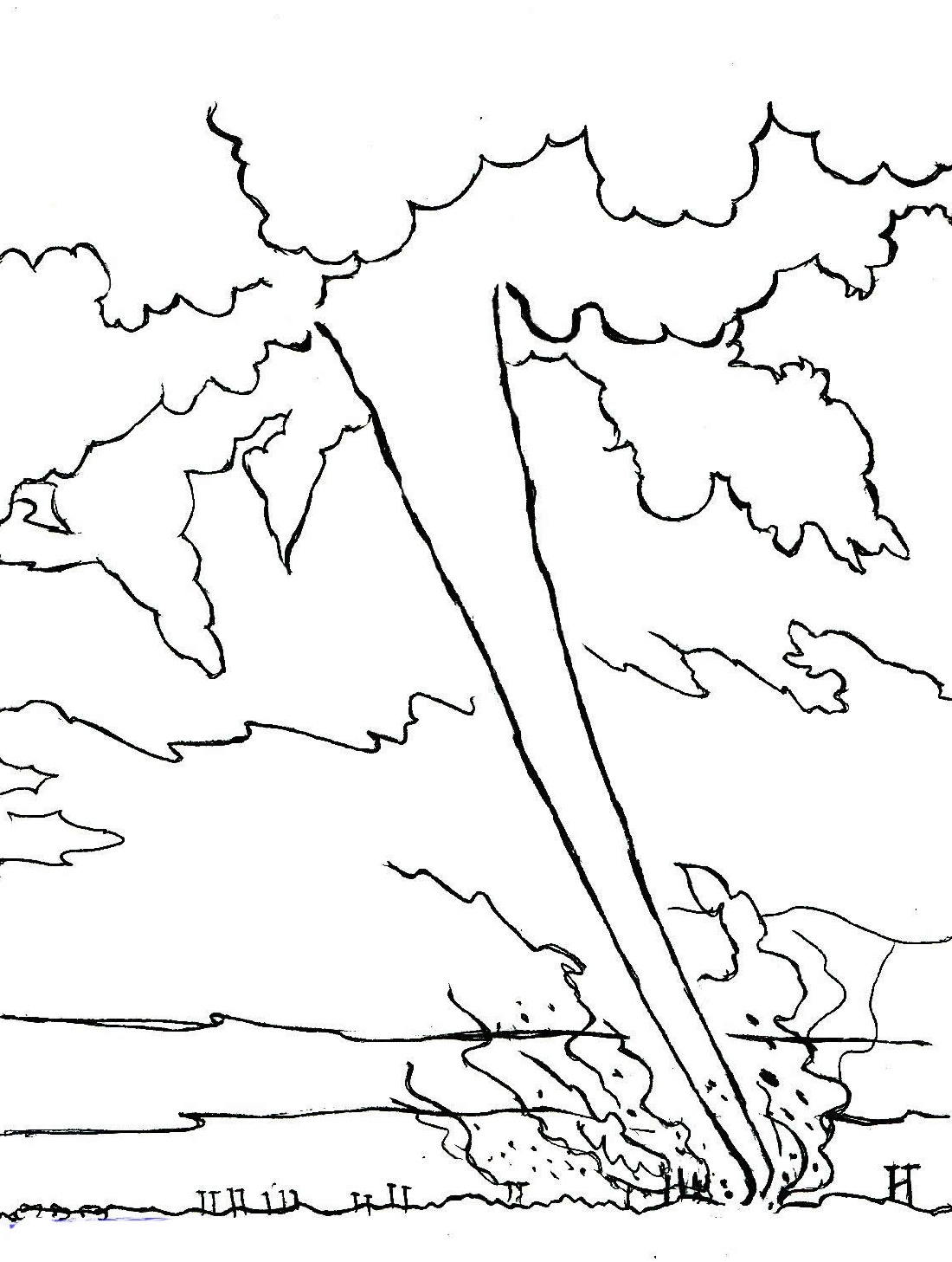 Luxury Tornado Coloring Pages Printable