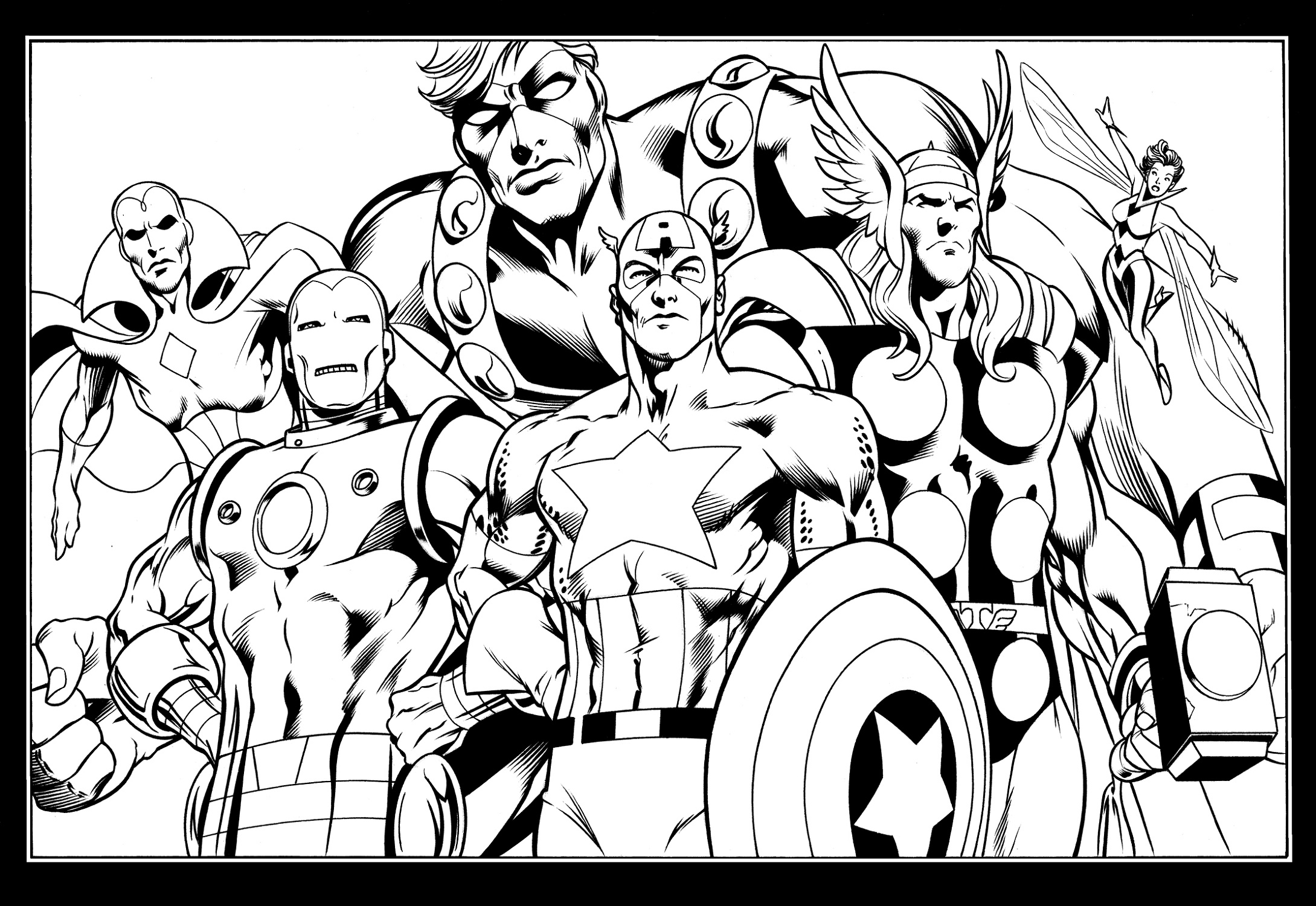 Avengers Coloring Pages From Marvel