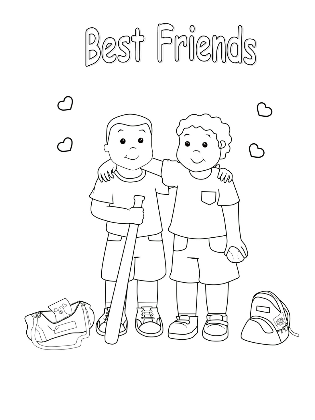 Best Friend Coloring Pages For Any Usage