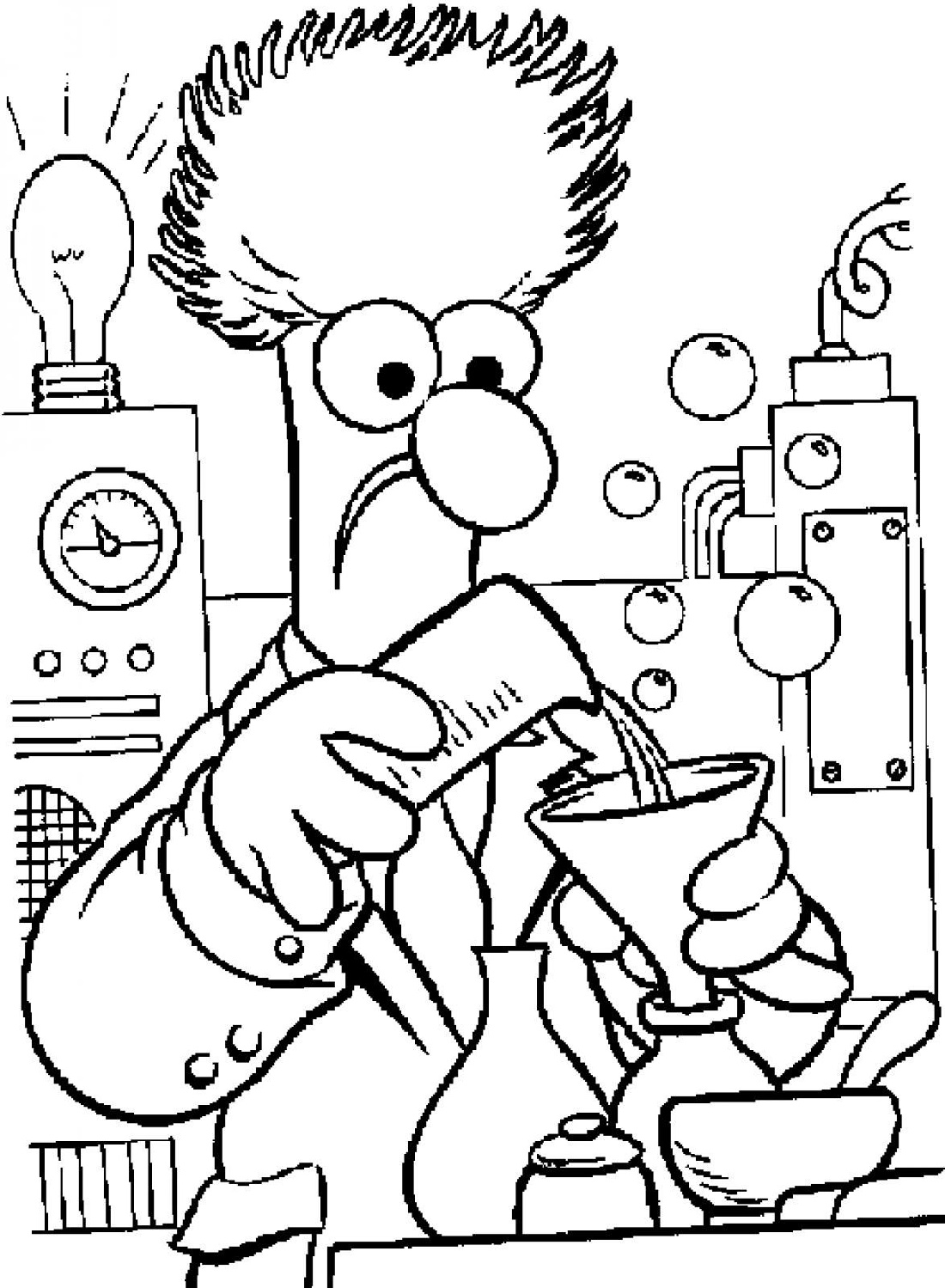 Chemistry Coloring Pages For Kids And Toddlers