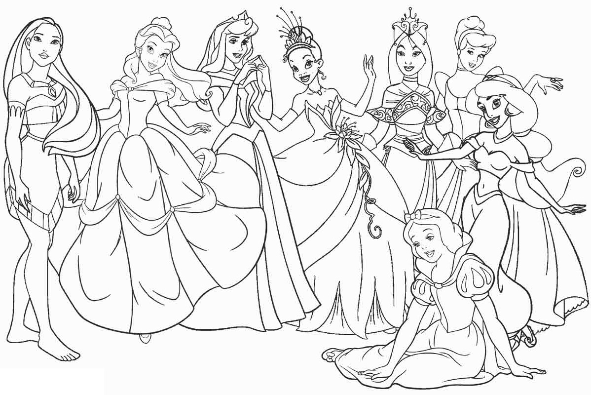 Disney Printable Coloring Pages All Characters