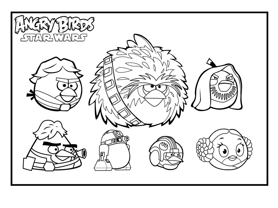 Angry Birds Star Wars Coloring Pages Characters