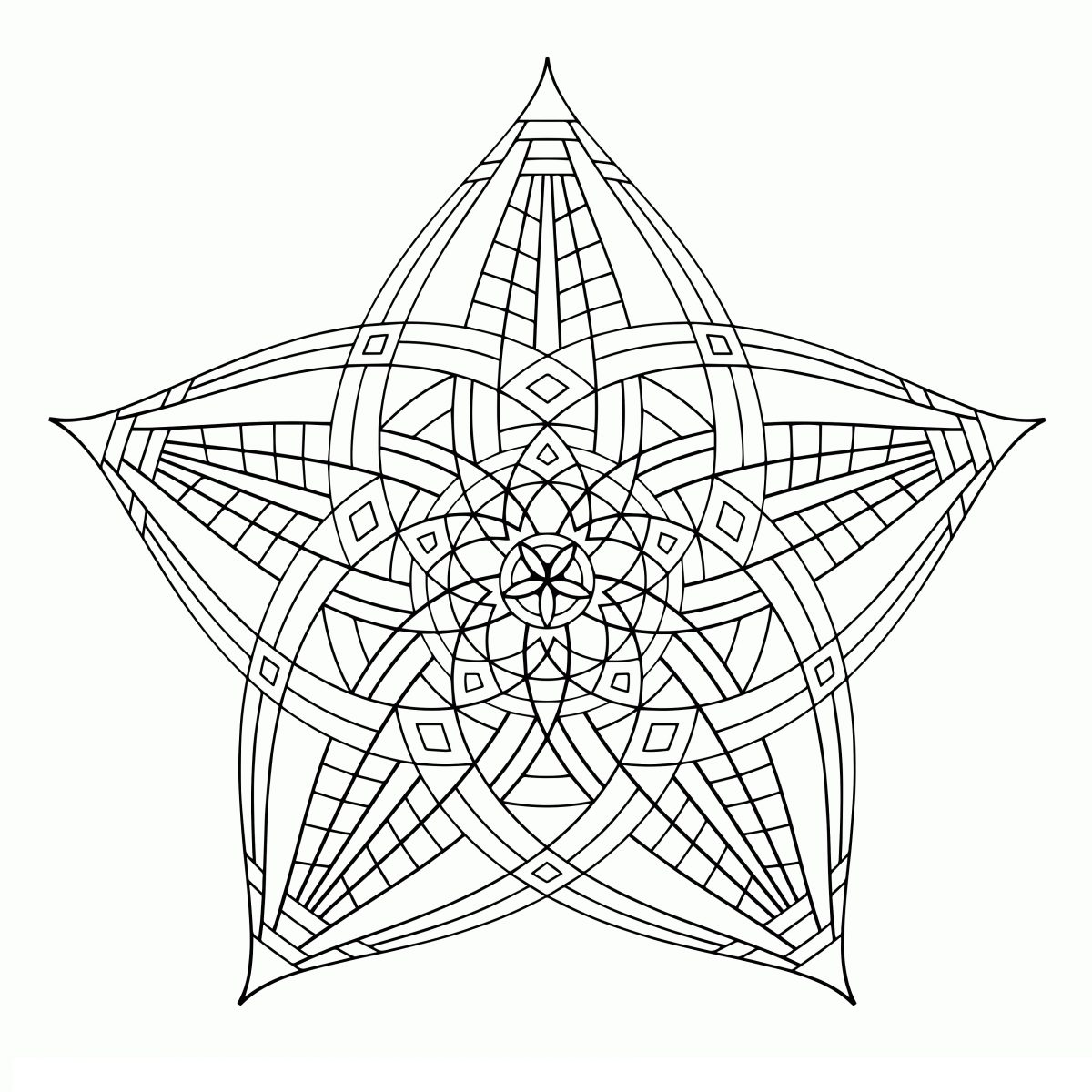 Cool Coloring Pictures Geometric