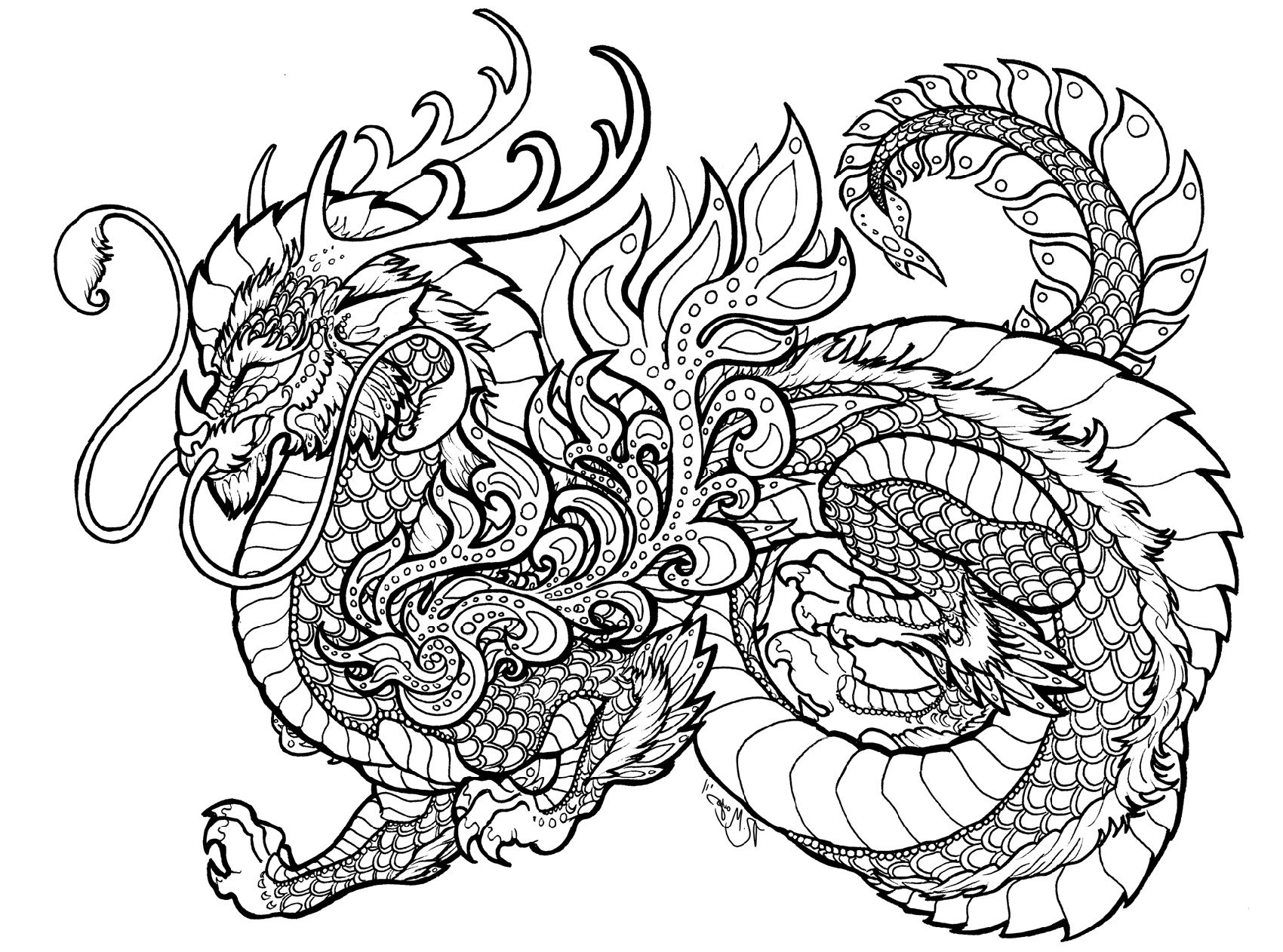 Dragon Coloring To Print Cute And Cool