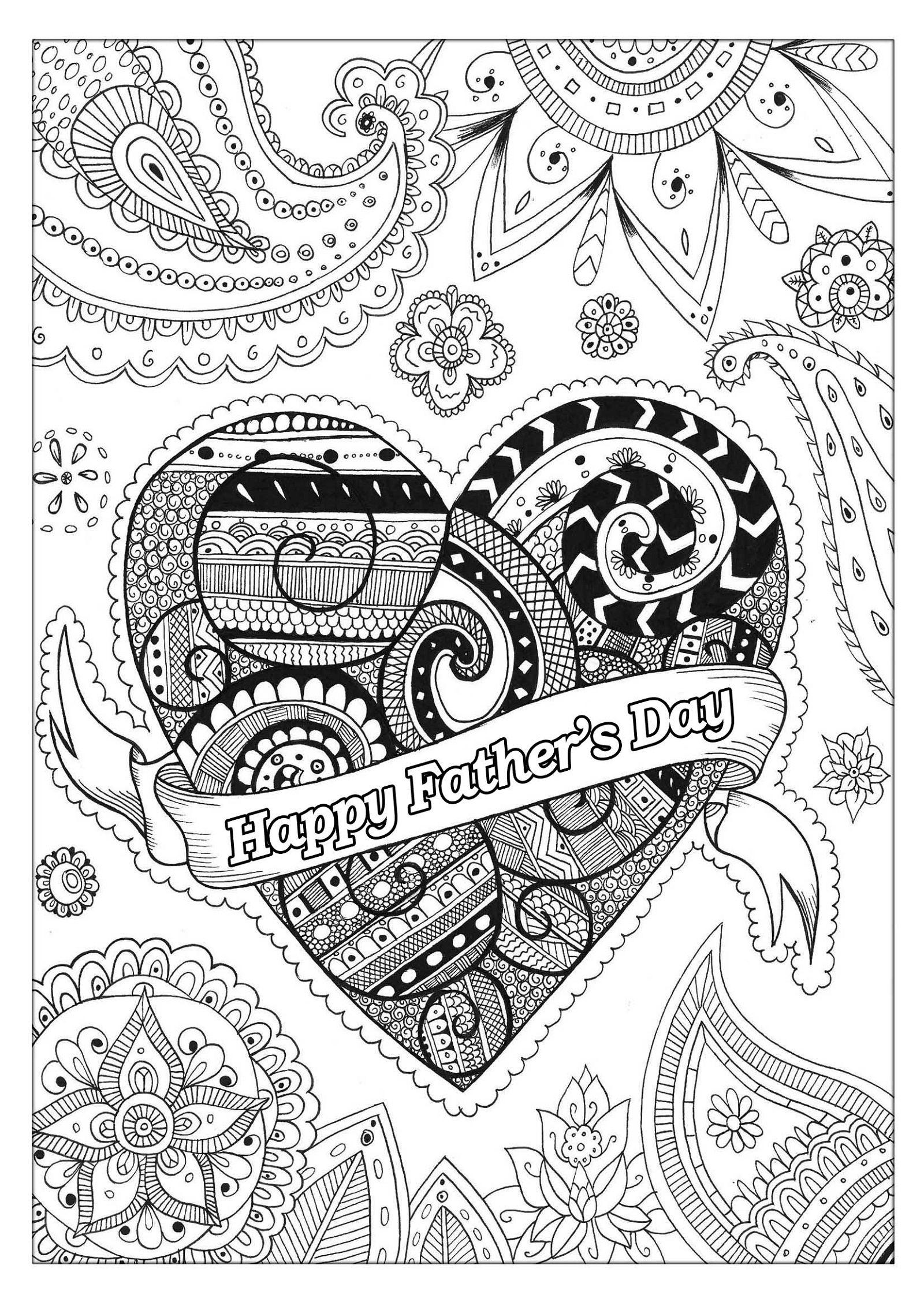 Fathers Day Coloring Pages For Adults K5 Worksheets