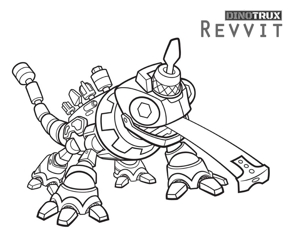 Dinotrux Coloring Pages Fighting For All Ages