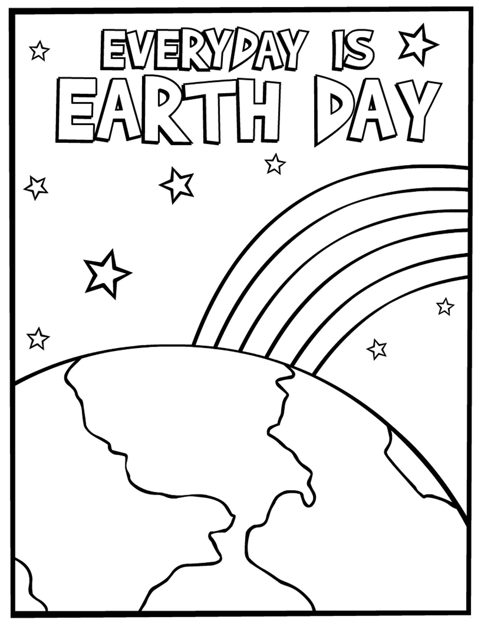 Earth Day Coloring Pages Various Styles