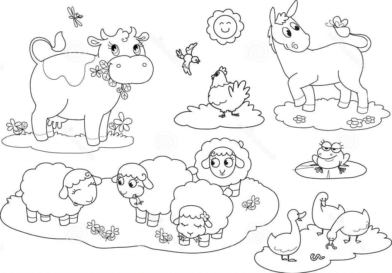 Farm Animal Coloring Pages Free For Students