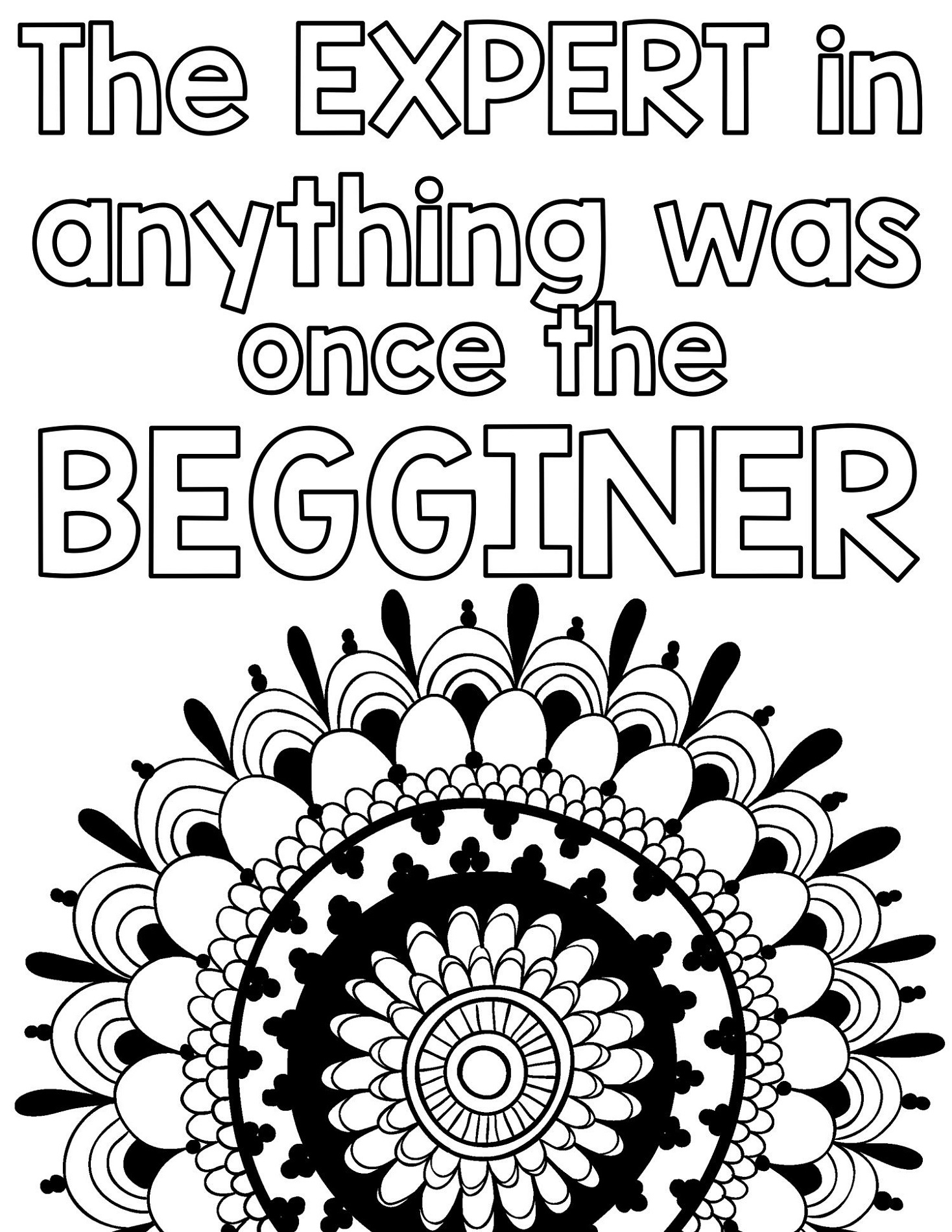 Growth Mindset Coloring Pages Printable