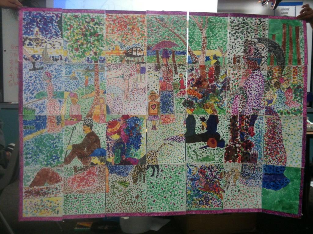 Seurat Pointillism Muralk 6 Art