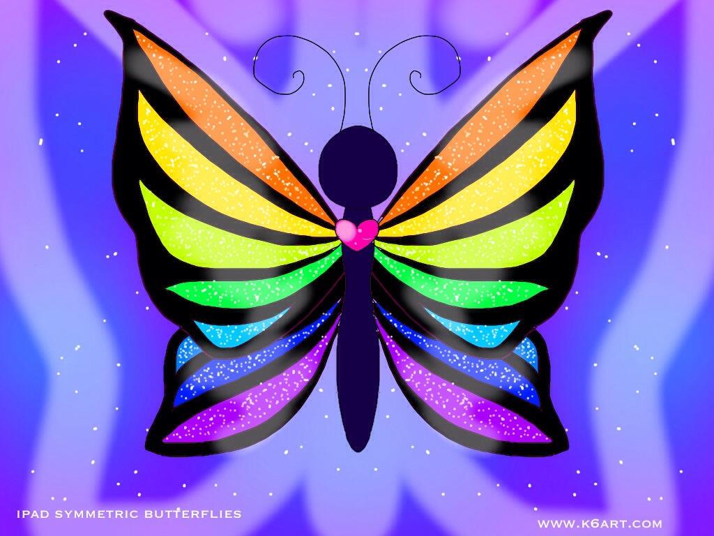 Ipad Symmetric Butterflies