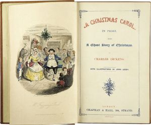 """Title page of """"A Christmas Carol"""""""