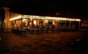 Cafe Du Monde at Night, Beware Vampires and Marketing. Picture by Robfromabove, Creative Commons License