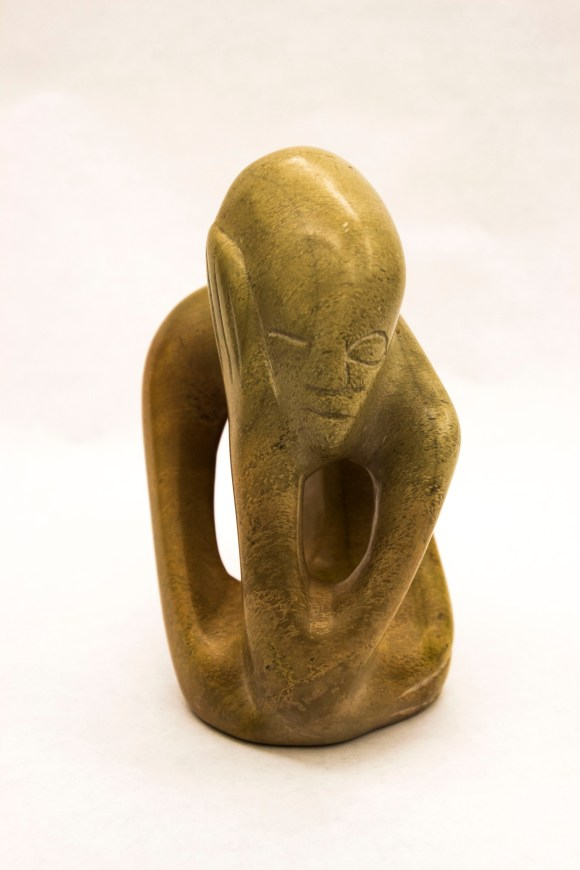 Abstract sculpture of a human-like figure