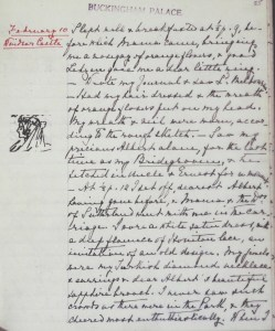 A page from Queen Victoria's journals