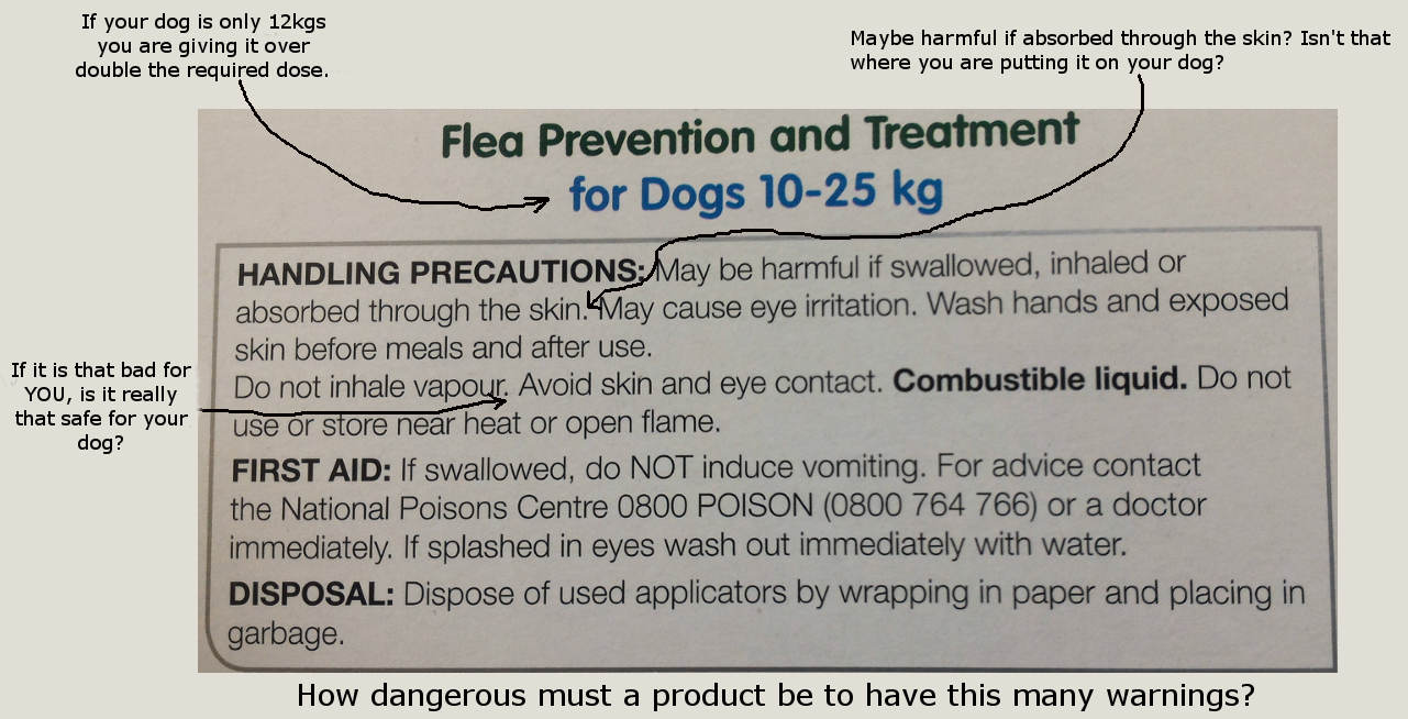 flea packet warning
