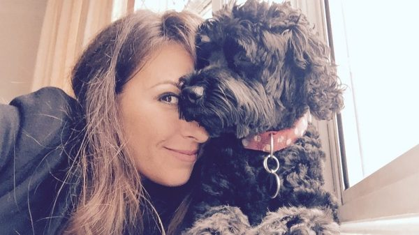 TV Presenter Sara Damergi Introduces Her Dog to K9 Magazine