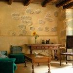 Salón de casa rural ecológica Kaaño etxea.
