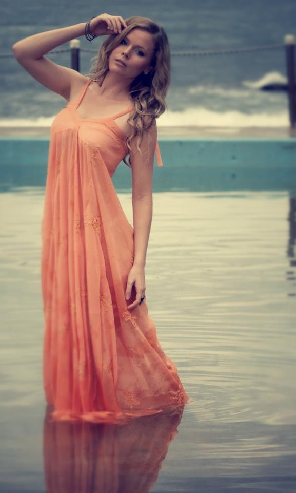 Clover Love Orange Maxi