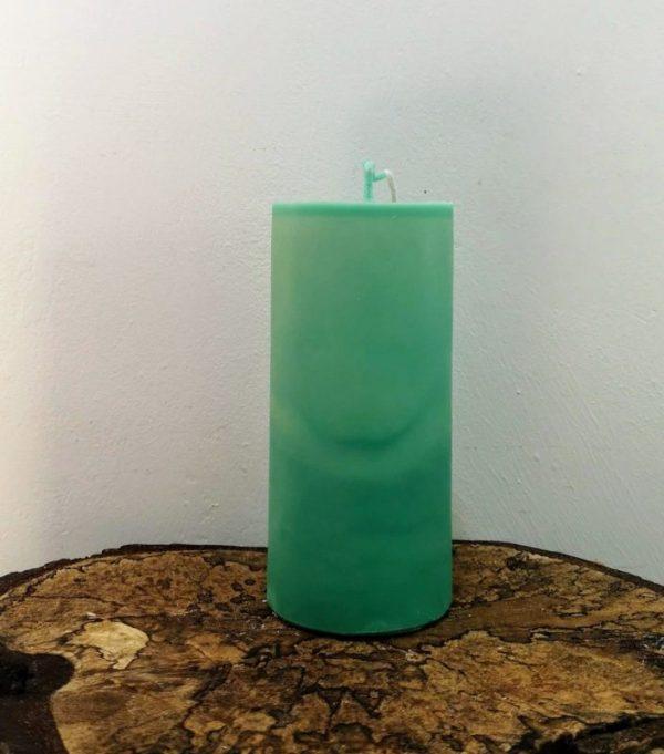 stompkaars koolzaadwas Ø 6.5 x 15 cm zee groen