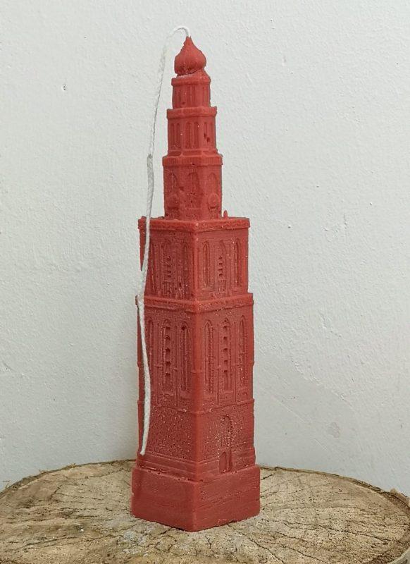 Martinitoren kaars koolzaadwas, rood