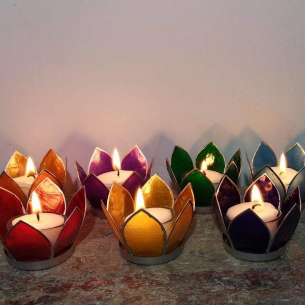 Lotus sfeerlichtjes, set van 7