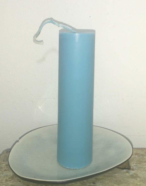 Druipkaars koolzaadwas Ø 4 cm x 15 cm ercolano blauw