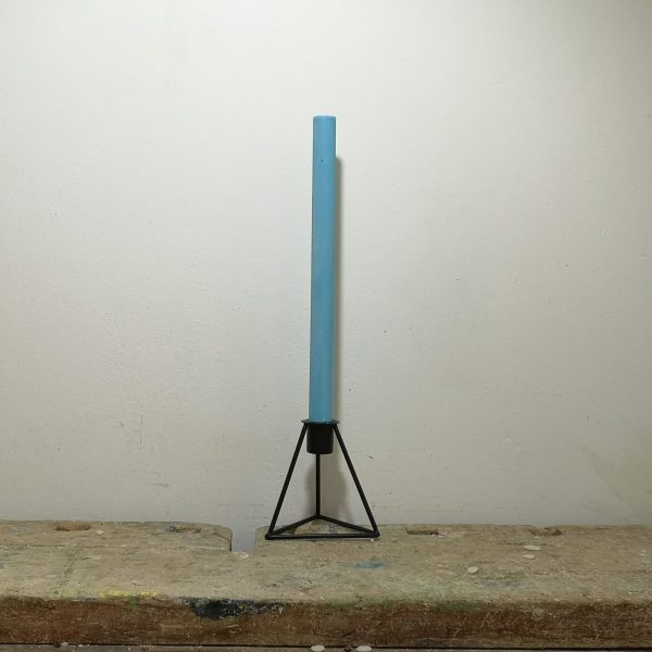 Tafelkaars koolzaadwas, ø 2 cm x 30 cm, ercolano blauw