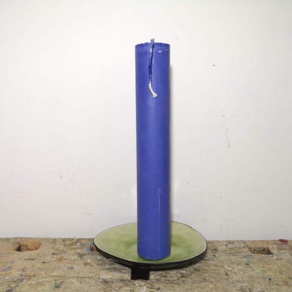 Druipkaars koolzaadwas ø 4 x 25 cm. ultramarijn blauw