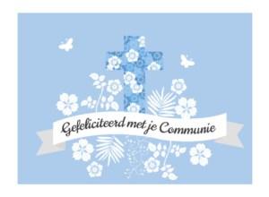 Tekst kaartje communie