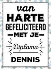 Tekst kaartje diploma