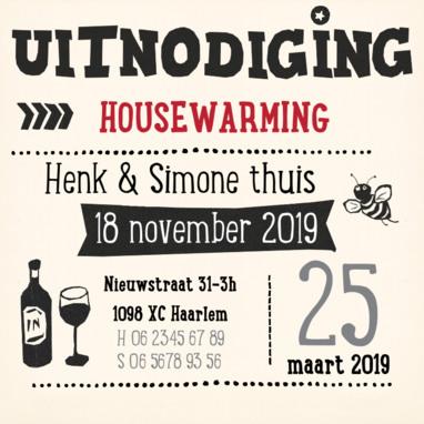 housewarming kaart tekst