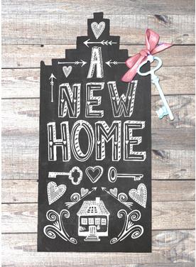 Tekst kaartje nieuwe woning