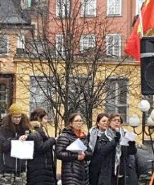 گزارش حمایت کارزار زنان ایران از مبارزات زنان روژئاوا ـ استکهلم