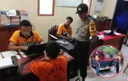 Polisi Tangkap Pencuri Belasan Karung Gabah Kering di Songgon
