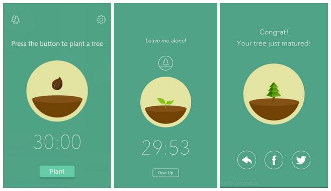 Kecanduan Smartphone - forest app