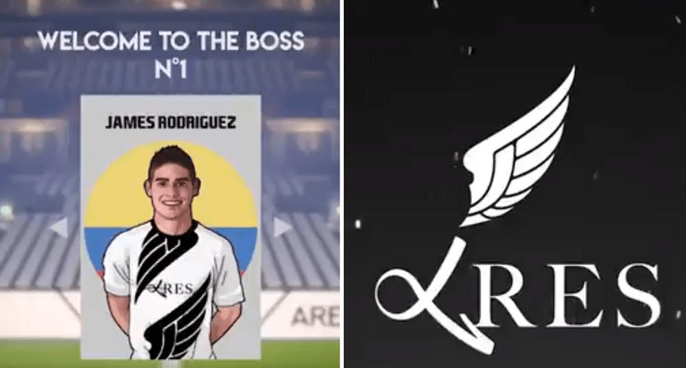 James Rodriguez Bergabung Dengan Tim Ares eSports