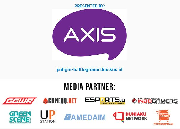 Sponsor dan Media Partner Kaskus Battleground PUBG Mobile