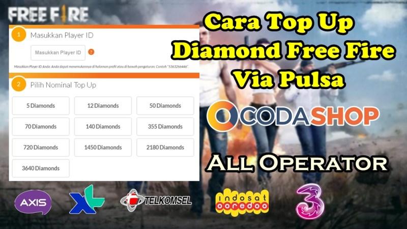 Cara Beli Diamond Free Fire (FF) Pakai Pulsa di 2019