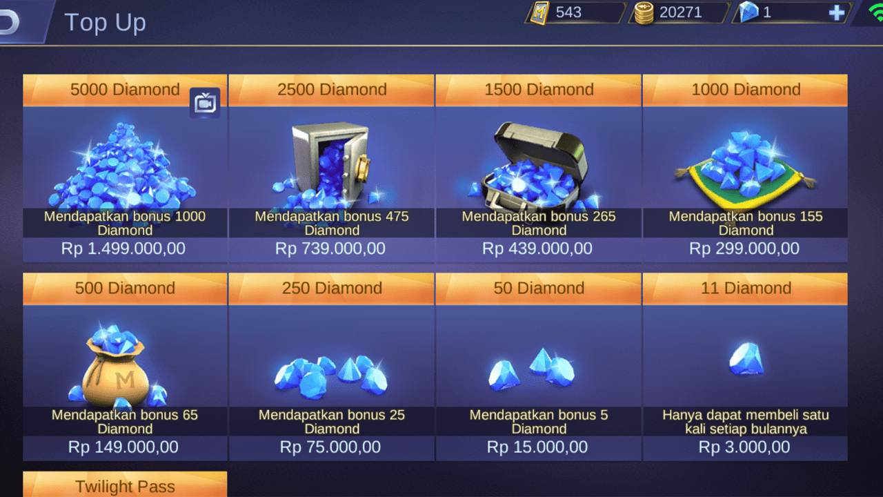 cara membeli diamond mobile legends pakai pulsa