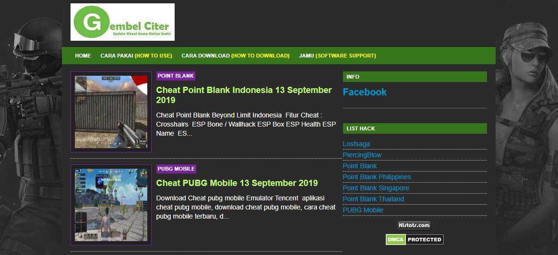 Gembel Cit: Pusatnya Cheat Point Blank Garena di Asia Tenggara