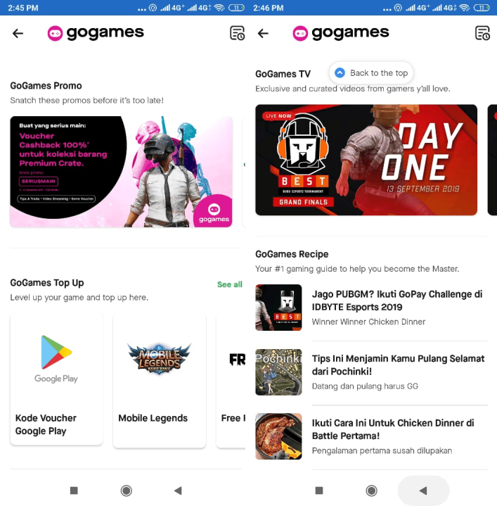 GoGames, One Stop Gamers Solution dari GoJek