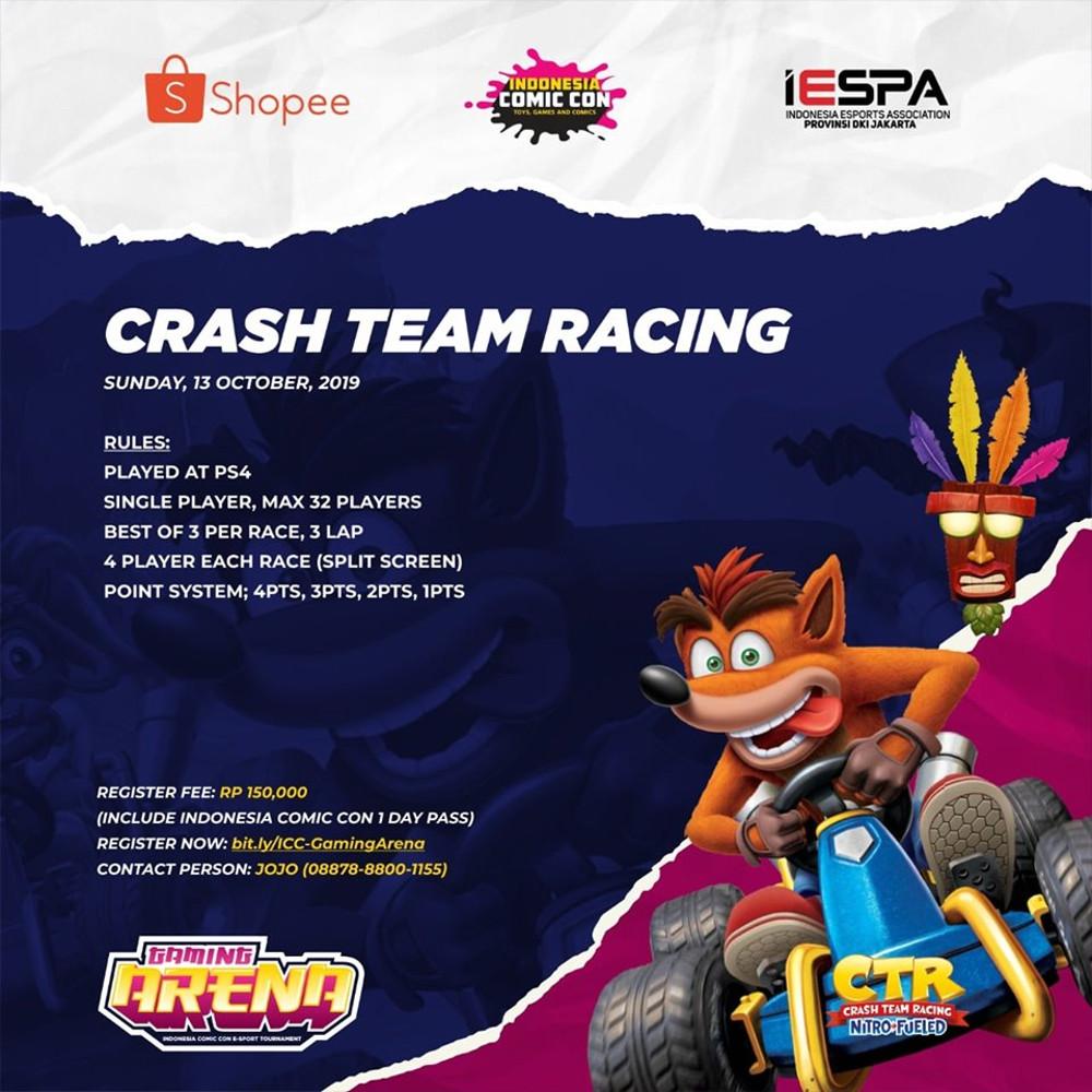 Gaming Arena Indonesia Comic Con (ICC) 2019, Crash Team Racing