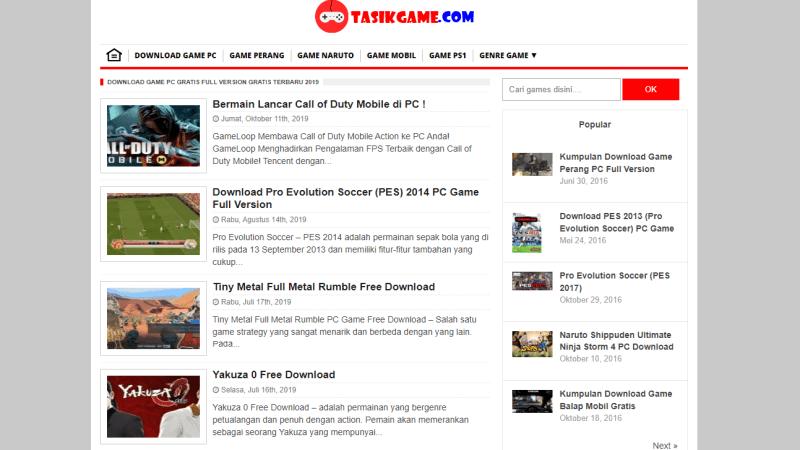 TasikGame: Fakta, Kelebihan & Cara Download Game