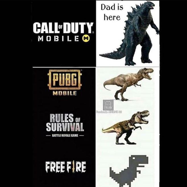 Grafis PUBG vs CODM vs Free Fire
